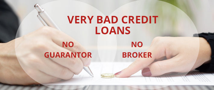 very bad credit loans no guarantor no broker